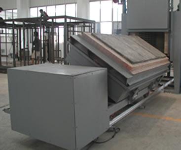 福建客户定制的翻转式台车炉